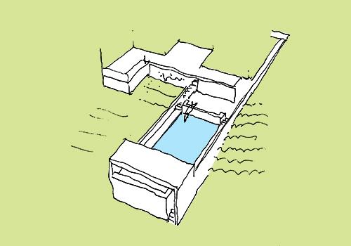 Jardin et piscine à Laxou